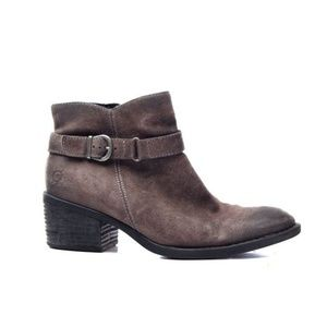 nwob BORN BOOTS SHOES ANKLE BOOTS zip up suede 10